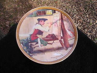 Rockwell Society Colonials Rarest Sign of Times Artist Easel Painting Sign Plate