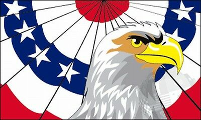 Patriotic Bald Eagle Flag 3x5 ft United States US USA Bunting American Banner