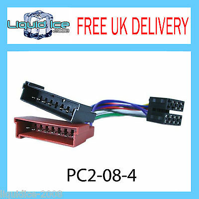 Pc2-08-4 Ford Mondeo 1993 -2003 Iso Stereo Headunit Harness Adaptor Wiring Lead