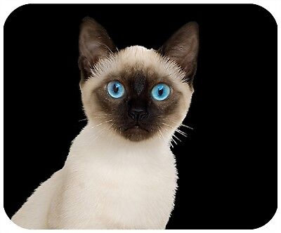 Mouse Pad Custom Thick Cat Mousepad - Siamese - Add Any Text Free