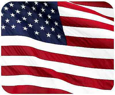 Mouse Pad Thick Mousepad - American Flag - Add Any Text Free