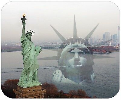 Mouse Pad Custom Thick Mousepad - Statue Of Liberty - Add Any Text Free