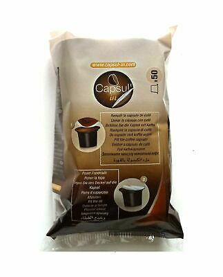 50 COFFEE CAPSULES Nespresso Espresso Machine Compatible Empty Pod Tea Chocolate
