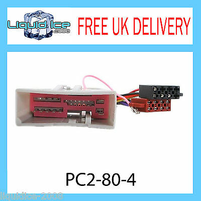 Pc2-80-4 Ford Fiesta 2002 Onwards Iso Stereo Head Unit Harness Adaptor Lead