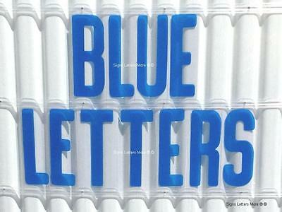 8 inch flexible plastic outdoor marquee sign letters blue color 300 count