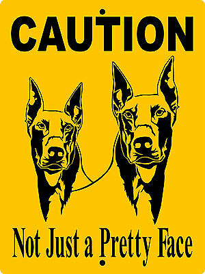 Doberman Pinscher  Aluminum Sign Vinyl Decal Dog Warning  Cd1