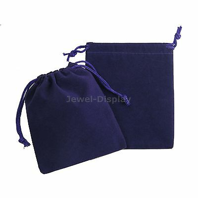 """50 Drawstring Purple Velvet Square Jewellery Pouches Party Gift Bags 4""""x5"""""""
