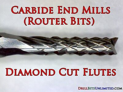 "Router Bit 1.20mm .047"" Solid Carbide  : Shank: 1/8"" PCB CNC N"