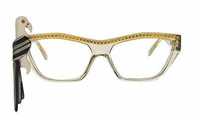 Rare French Vintage Louis Feraud Lerida Rhinestone Parrot Cat Eye Glasses Frames
