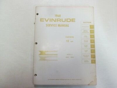 1968 Evinrude Service Shop Repair Manual 85 HP Speedifour Starflite OEM Boat