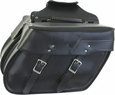 2PC Slanted PVC SUZUKI BOULEVARD C90 C50 INTRUDER 800 1400 1500 Saddlebags - Q/R