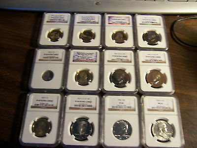 4-Ngc Graded Coins-Mixed Box -Estate Buy-1 Buy=4 Slabs Randomly Pulled From Box
