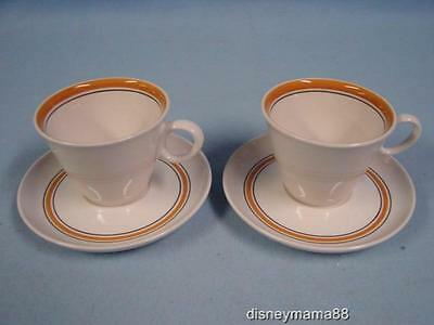 Set of 2 Vintage Franciscan Pickwick Whitestone Ware Cups and Saucers