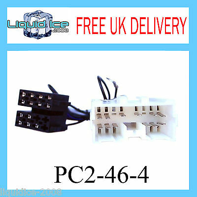Pc2-46-4 Mitsubishi Carisma 1995 - 2007 Iso Stereo Headunit Harness Adaptor Lead