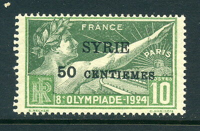 Syria SC# 133 MLH, 1924 Olympic Games  w/Overprint 50c on 10c Issued in 1924