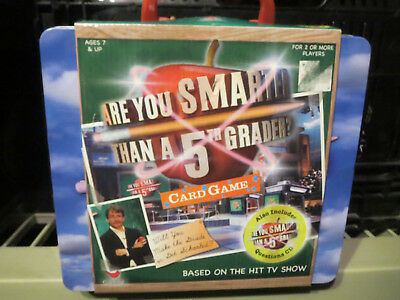 Are You Smarter Than A 5Th Grader?  Card Game In Lunch Box - New