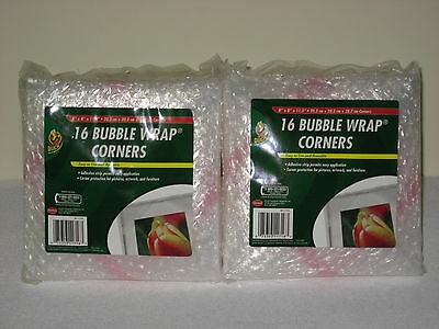 "96 Duck Thick Cushioned Bubble Wrap Corners 8"" X 8"" X 11.3"" Protective Padding"