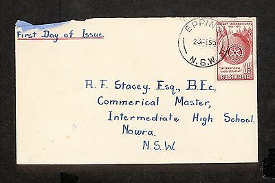 FDC 1955   3+1/2d ROTARY First Day Cover   ADDRESSED Epping (4442.100)