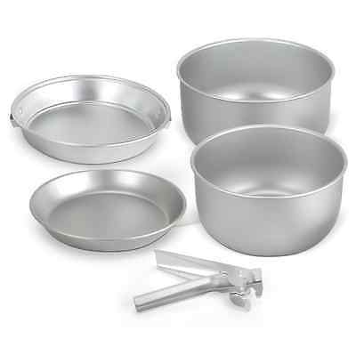 2 To 3 Person Saucepan Cook Set  5 Piece Mess Tin Pan Camping Fishing Accessory