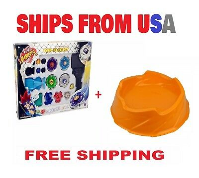 Beyblade Top Flight Rapidity Metal Fusion Fight String Launcher Toy Set B *USA*