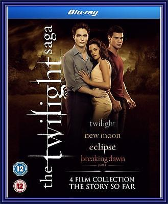 The Twilight Saga - Quad Pack - 4 Film Collection 1 2 3 & 4 *brand New Blu-Ray*