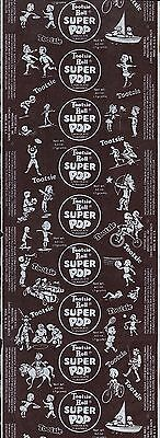 Vintage wrapper TOOTSIE ROLL SUPER POP kids playing sports new old stock n-mint
