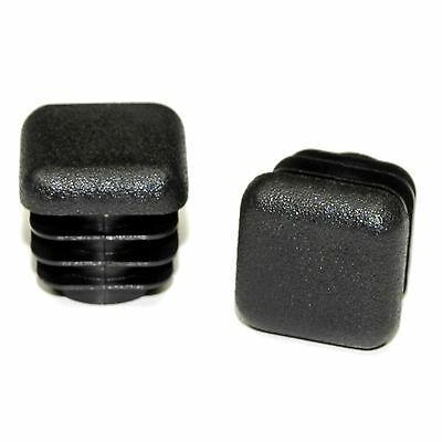 """100 x 5/8"""" Inch Square Chair Feet - Tube Bungs - end caps - *Value Pack*"""