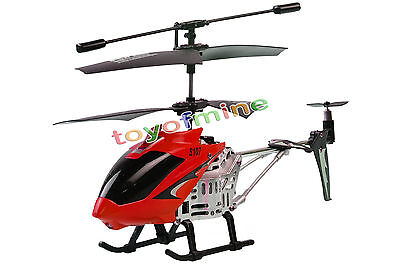 S107 3 Channel 3CH Remote Control RC GYRO Mini Metal Helicopter Red S107G