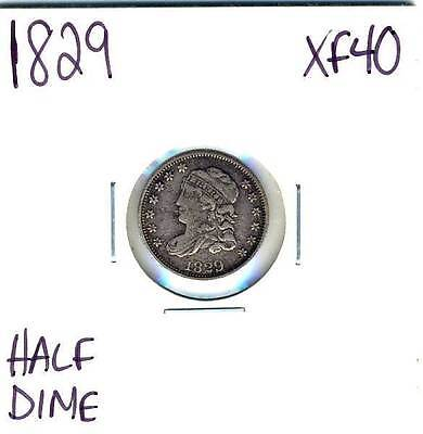 Avc827 - 1829 Capped Bust Half Dime Xf
