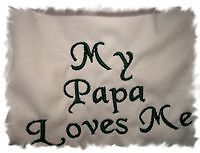 My Papa Loves Me Baby Bib