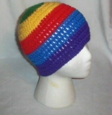 Hand Crochet Elemental Beanie Style A - Ladies Earth Air Fire Water