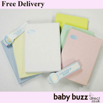 Baby Cotton Sheets for Cot/Cot Bed/Moses Basket/Crib/Pram