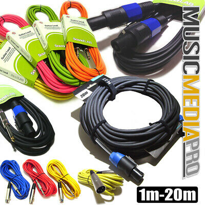 6m Balanced Microphone Cable XLR Mic Instrument  Leads- ALL COLOURS ALL CABLES