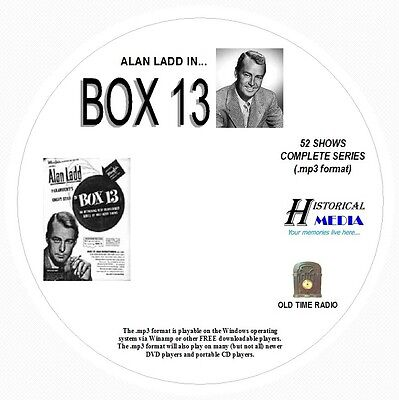 BOX 13 - 52 Episodes - Old Time Radio Shows OTR In MP3 Format On 1 CD Alan Ladd