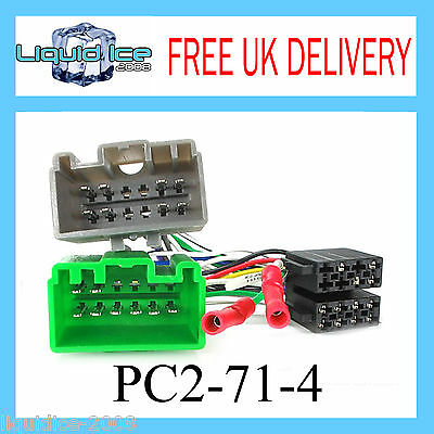 PC2-71-4 VOLVO S60 2000 to 2006 ISO STEREO HEAD UNIT HARNESS ADAPTOR WIRING LEAD