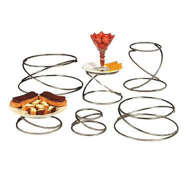 American Metalcraft SSUS6 Riser Stand Set of Six, Stainless