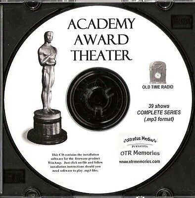ACADEMY AWARD THEATER - 39 Shows Old Time Radio In MP3 Format OTR 1 CD