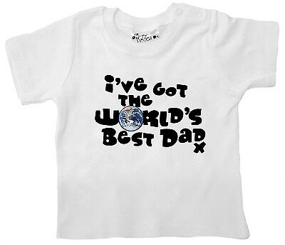 """Baby T-Shirt """"I've got World's Best Dad"""" Daddy Fathers Day Birthday Gift"""