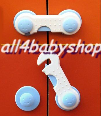 2Pcs Baby Toddler Safety Cabinet Cupboard Door Lock