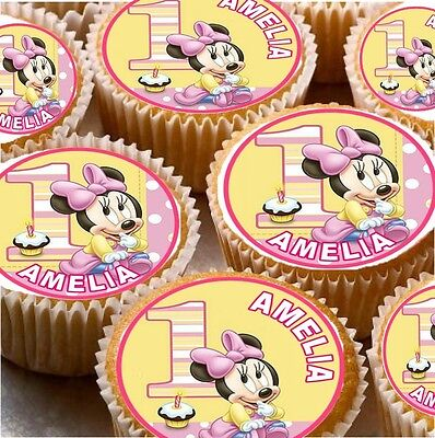 24 Personalised 1St Birthday Cup Cake Fairy Cake Toppers Boys / Girls You Choose