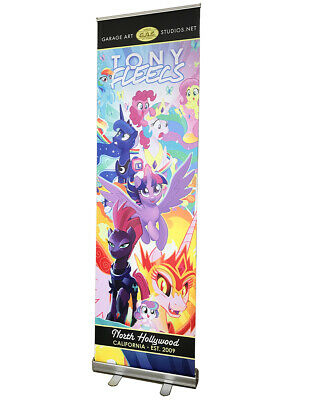 "24""x79"" Roll Up Retractable Banner Stand + Free Printing, Trade Show, R080"