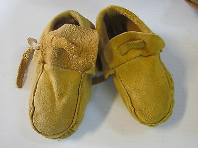 Native American  Moccasins, 5 Inches,for Toddler,unisex, With Ties