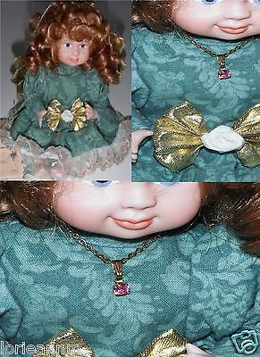 New PORCELAIN DOLL OCTOBER GUARDIAN ANGEL Betty Jane Carter Bette Ball Goebel