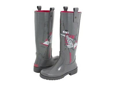 57d8b60d49c0 Dkny Niagra Iconic Fun Print Logo Tall Rubber Rain Boots 3 Colors I Love  Shoes