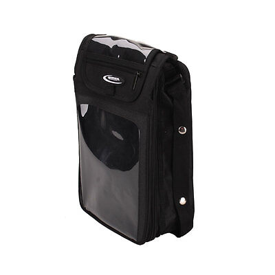 New Textile Magnetic Motorcycle Riding Tank Bag Backpack MB08 Black