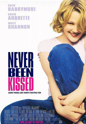 NEVER BEEN KISSED MOVIE POSTER 2 Sided ORIGINAL 27x40 DREW BARRYMORE