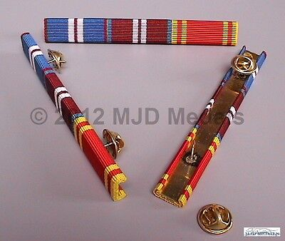 Golden Jubilee + Diamond Jubilee + Fire Service Long Service Medal Ribbon Bar