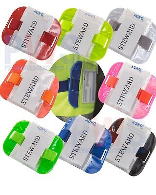 Yoko ID Armband Badge Holder Security Hi Vis Viz SIA Waterproof 8 COLOURS (ID03)