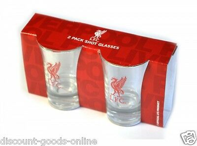 Liverpool Fc Shot Glasses Twin Pack Shot Glasses