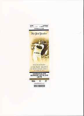 Yankee Special collectors real game ticket  Reggie Jackson 3 HOME RUNS '77WS